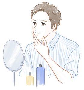 育毛を実感する男性